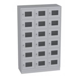 Szafa skrytkowa z drzwiami z pleksi SSPL40-36
