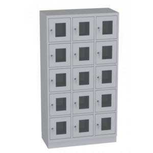 Szafa skrytkowa z drzwiami z pleksi SSPL35-35