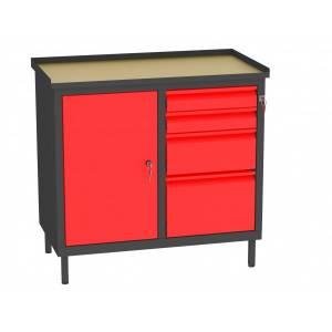 Szafka Warsztatowa SW.AE cztery szuflady, drzwi i przegroda
